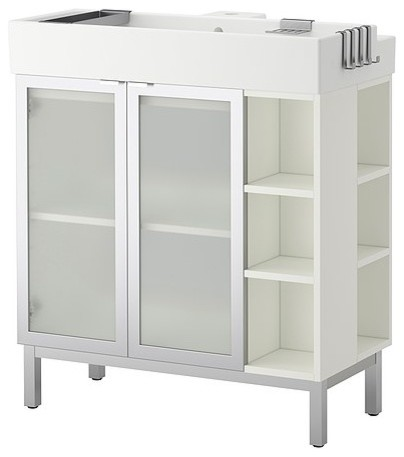 Lill Ngen Sink Cabinet With 2 Doors And 2 End Units Aluminum Modern Bathroom Vanities And