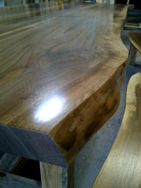 Wood slab kitchen countertop live edge counter tops for Natural edge wood countertops