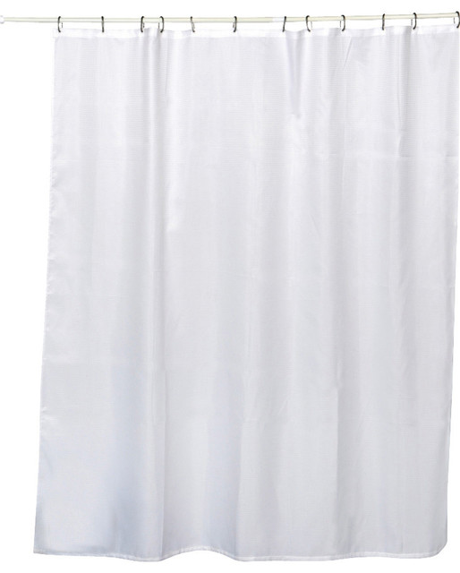honeycomb fabric shower curtain polyester white 71x79l