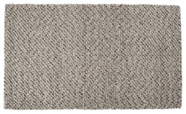 tapis bliss laine gris brun 90 x 150 cm scandinave. Black Bedroom Furniture Sets. Home Design Ideas