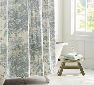 Matine Toile Shower Curtain Traditional Shower