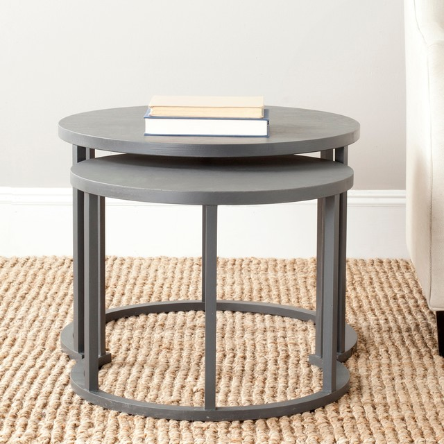Safavieh chindler nesting tables contemporary side for Table th means