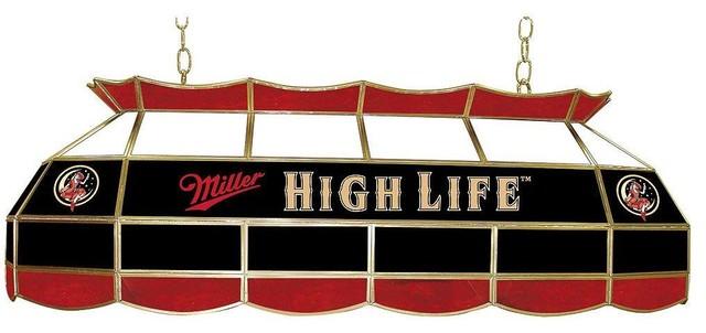 trademark global billiard lights miller high life girl in the moon 3 light. Black Bedroom Furniture Sets. Home Design Ideas