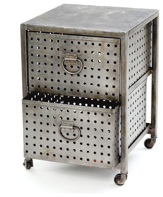 Perforated Metal Cart - Modern - Bar Carts - by Dot & Bo