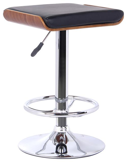 Java Modern Adjustable Swivel Backless Barstool Black