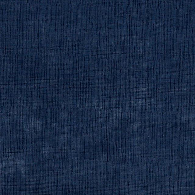 Dark Blue Textured Grid Microfiber Stain Resistant