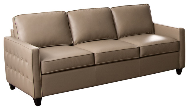 taupe blended leather sofa modern sofas