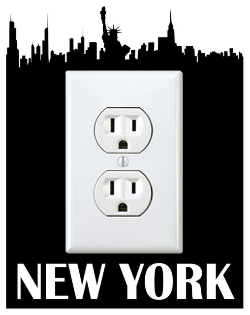 Outlet New York Sticker Eclectic Wall Decals By