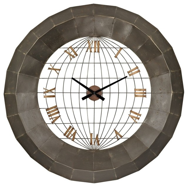 Sterling oversized metal wall clock contemporary wall - Oversized modern wall clock ...