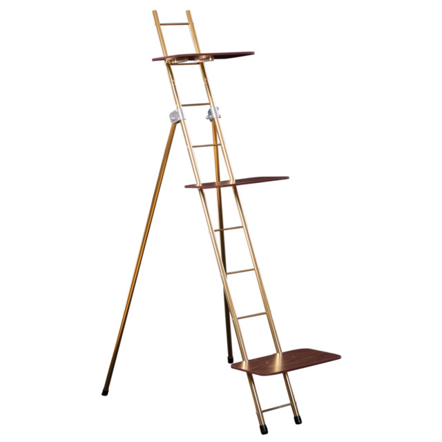 Ladder Rack Bundle, Gold, Small - Modern - Display And Wall Shelves - by XL Industries, Inc.