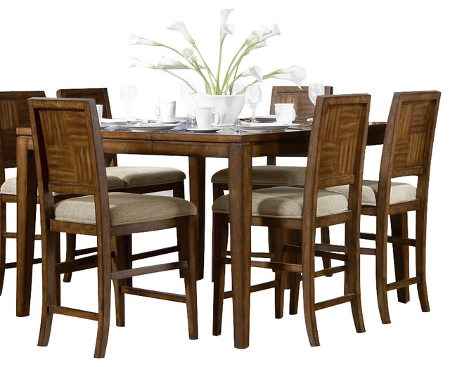campton 8 piece counter height dining room set traditional dining sets
