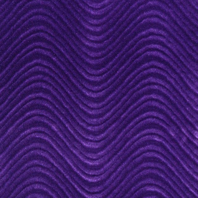 purple soft velvet wavy swirl upholstery velvet by the. Black Bedroom Furniture Sets. Home Design Ideas