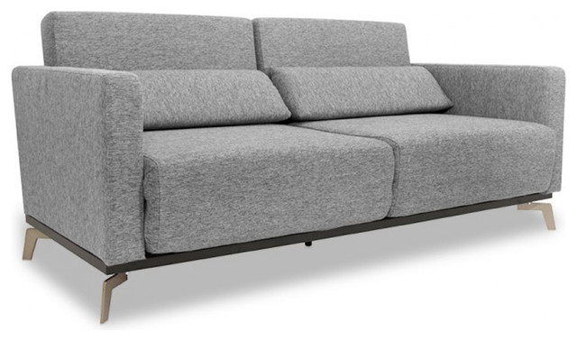 Canap convertible design oslo 3 places 174 cm noir for Canape convertible contemporain design