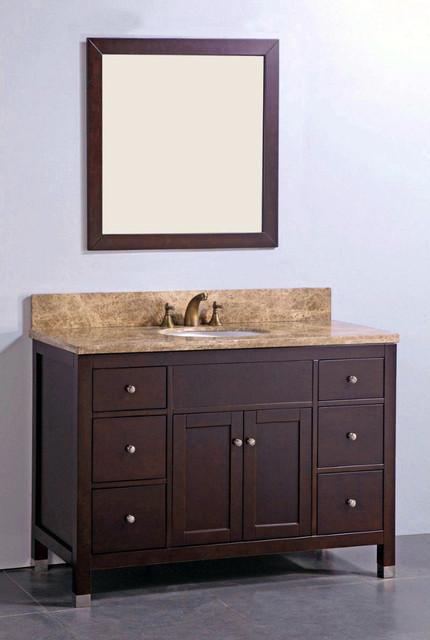 Marble Top 48 Inch Single Sink Matching Mirror Bathroom