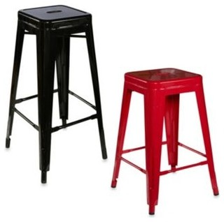 Linon Home Industrial Metal Stools Contemporary Bar Stools And Counter Stools By Bed Bath