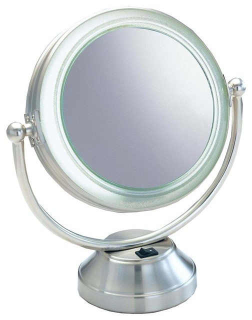 lighted magnifying vanity mirror contemporary makeup mirrors. Black Bedroom Furniture Sets. Home Design Ideas