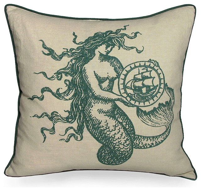 Mermaid Pillow - Spa - Transitional - Decorative Pillows - by Bliss Home & Design