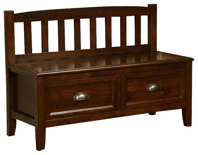Espresso Foyer Bench : Burlington collection espresso brown entryway bench