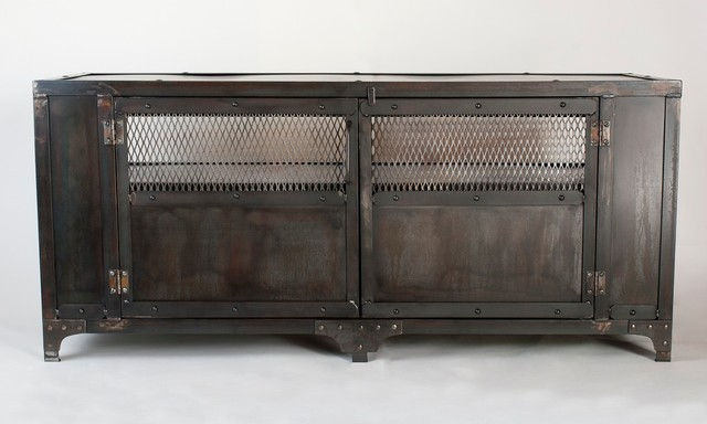 Industrial Media Cabinet Tv Stand Entertainment Center