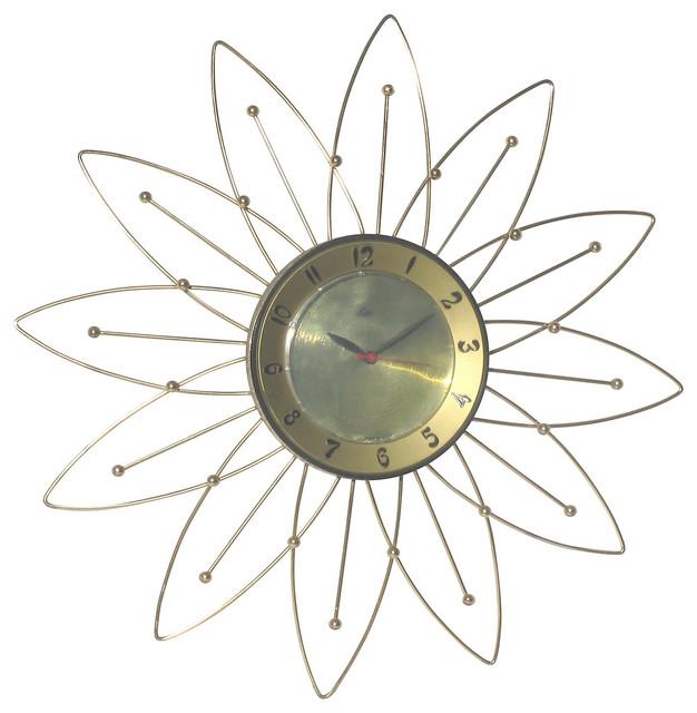 mid century modern atomic wall clock modern clocks