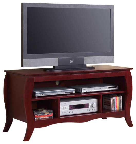Nancy TV Stand, Cherry Finish traditional-entertainment-centers-and-tv ...