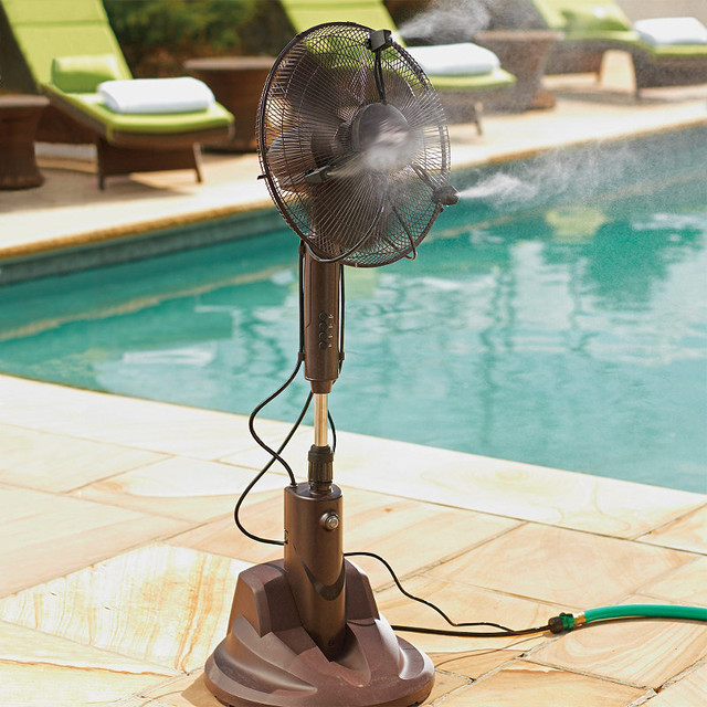 Portable Dry Misting Outdoor Fan Traditional Electric Fans