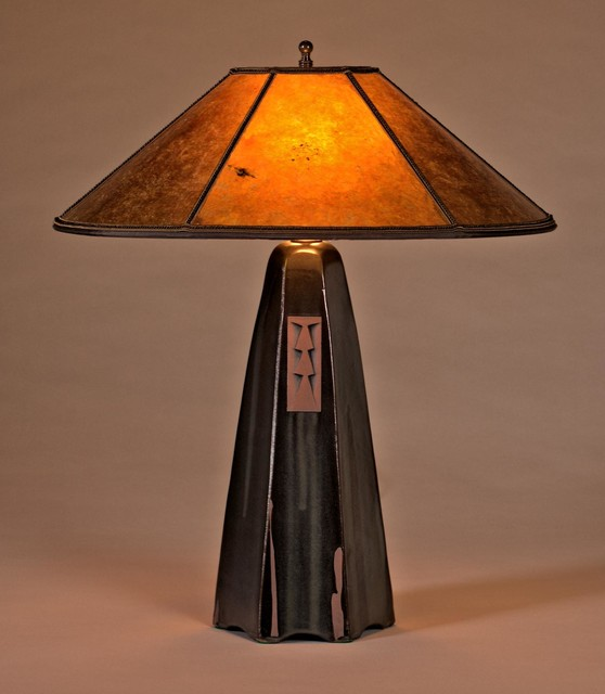 Hopewell collection of table lamps arts crafts table for Arts and crafts light