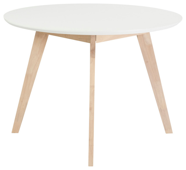 """Kitchen Cupboards Montague Gardens: Eurostyle Montana Round 42""""x42"""" Dining Table, White And"""