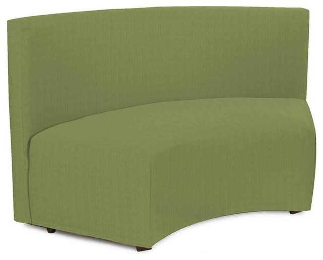 Incurve Bench In Moss Yellow Green Contemporary Accent And Storage Benches By Shopladder