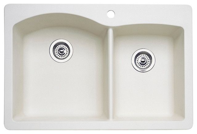 Blanco Drop-In 1.75 Bowl Silgranit II, Drop-In Sink, Biscuit - Modern ...