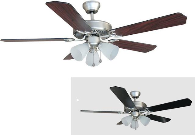 Satin Nickel 52 Ceiling Fan W Light Kit