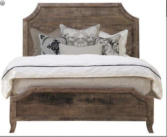 A Urban Classic Solid Reclaimed Lumber Wood Bed Bedroom