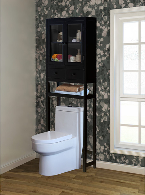 brown over the toilet space saver cabinet contemporary