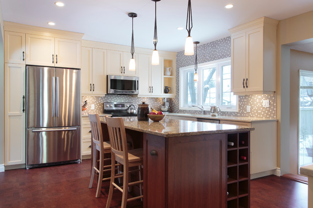 buttercream delight - Traditional - Kitchen - other metro - by Make It Home Design Build Renovations