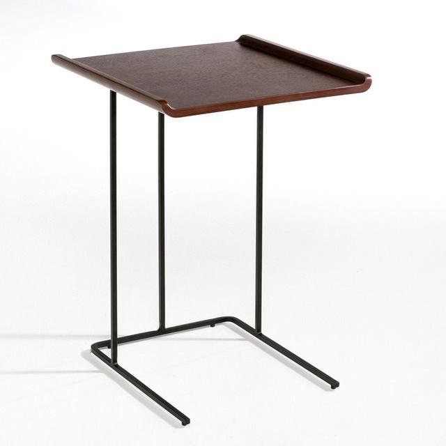 bout de canap ligne m tal et bois contemporain table. Black Bedroom Furniture Sets. Home Design Ideas