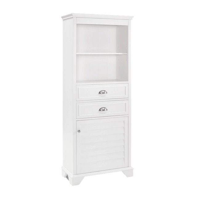 Lydia Tall Cabinet, White - Modern - Storage Cabinets - by Crosley