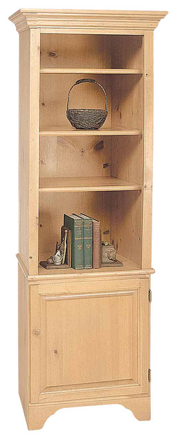 Bookcases UnFinished Pine Shaker Bookcase Kit 66 1/2H   195910 ...