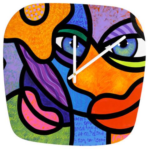 "Third Eye Rising"" Art Clock - Modern - Clocks - by Steven Scott ..."