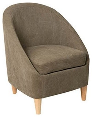 petit fauteuil chic microfibre taupe r tro fauteuil par inside75. Black Bedroom Furniture Sets. Home Design Ideas