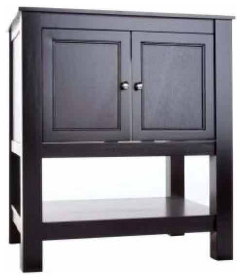 Foremost Gazette 30 Inch Vanity In Espresso Finish Traditional Bathroom Vanities And Sink