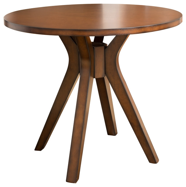 Round Solid Wood Dining Table: Noel Round Counter Height Solid Wood Dining Table
