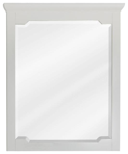 30 Jeffrey Alexander Chatham Shaker White Mirror Transitional Bathroom Mirrors By