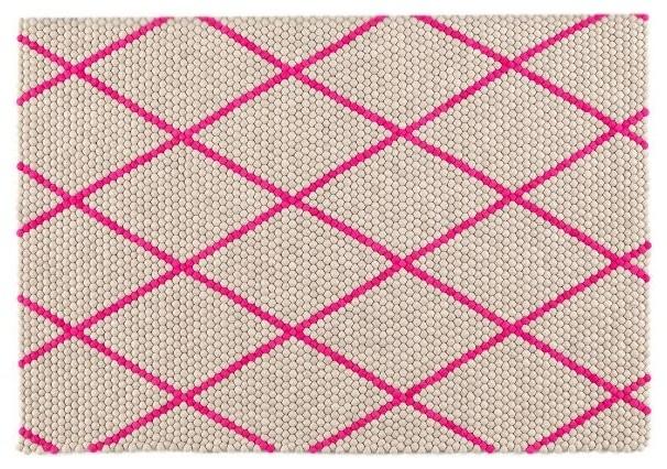 s b dot teppich hot pink 120 x 170 cm hay design bauhaus look teppichl ufer von found4you. Black Bedroom Furniture Sets. Home Design Ideas