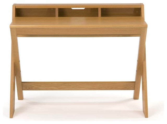 Bureau design tout bois ravenscroft scandinave meuble for Meuble bureau scandinave