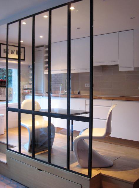 verri re et table en acier moderne other metro par les ateliers du 4. Black Bedroom Furniture Sets. Home Design Ideas
