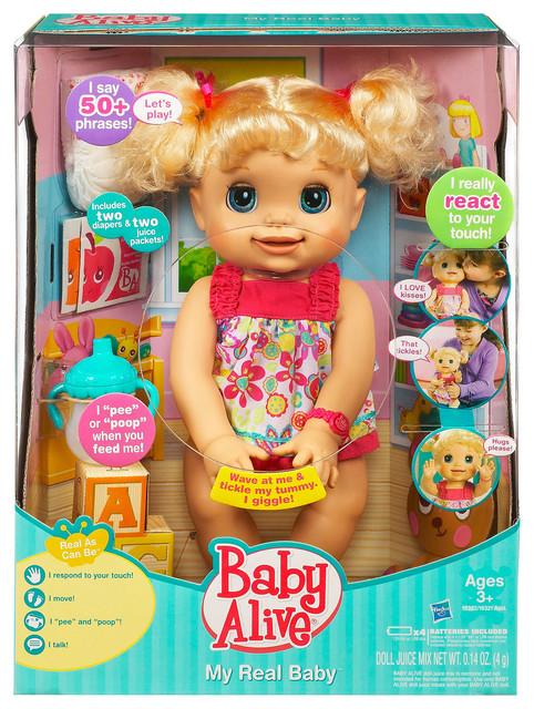 Baby Alive My Real Baby Doll Contemporary Kids Toys