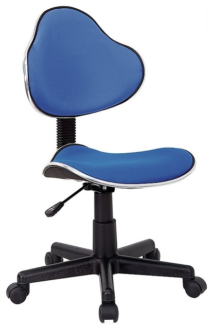 Rolling Office Chair In Turquoise Contemporary Office Chairs By