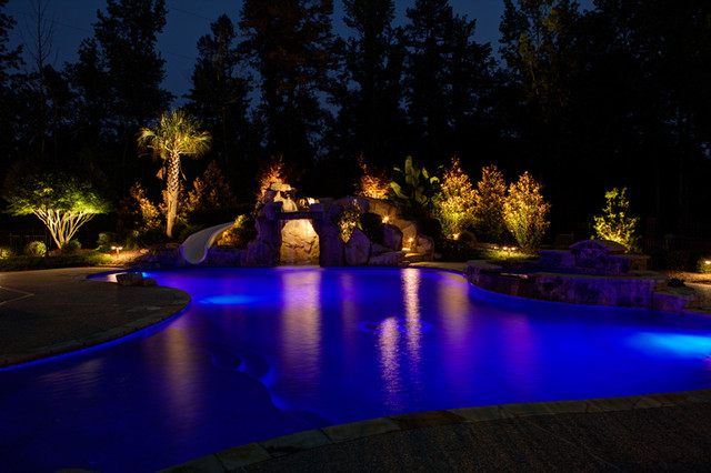 Low Voltage Landscape Lighting Tropical Pool