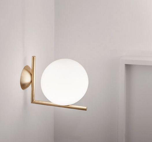 Ic lights wall lamp by flos modern wall sconces los for Flos bathroom light