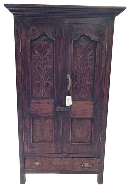 Wardrobe armoire clothes rack storage cabinet bedroom